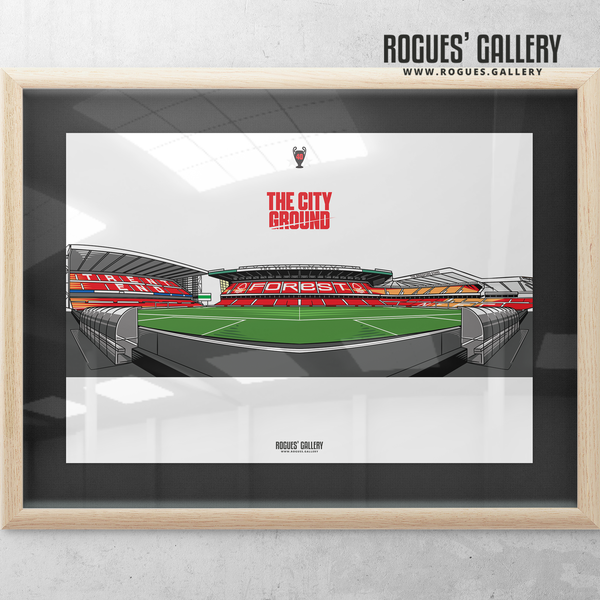 The City Ground NG2 Nottingham Forest A3 Print V2