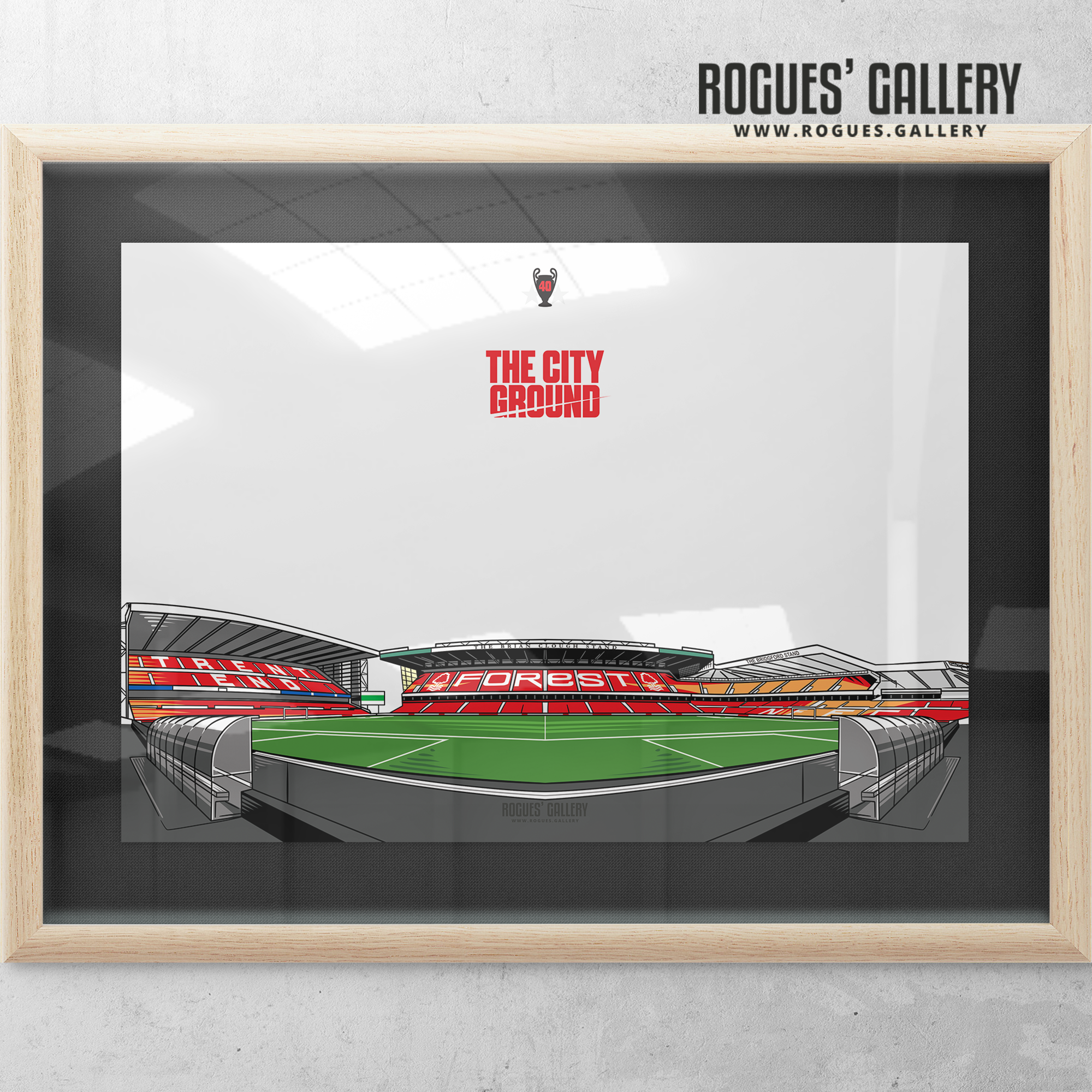 The City Ground NG2 Nottingham Forest A3 Print V1