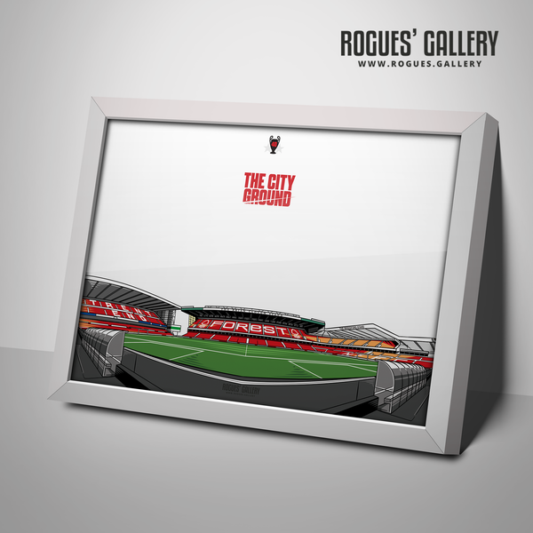 The City Ground NG2 0115 982 4450 Nottingham Forest A3 Print edit art Brian Clough Stand