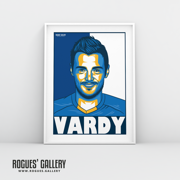 Jamie Vardy Striker Leicester City LCFC Foxes Premier League Champions A3 Print