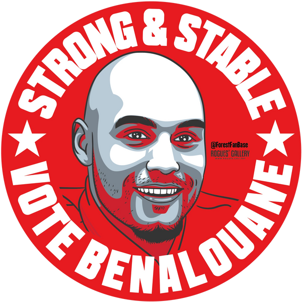 Yohan Benalouane centre half Nottingham Forest stickers Vote #GetBehindTheLads