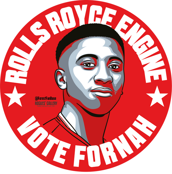 Tyrese Fornah young midfielder Nottingham Forest stickers Vote #GetBehindTheLads