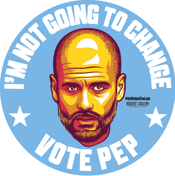 Pep Guardiola Manchester City Manager Vote Stickers Change