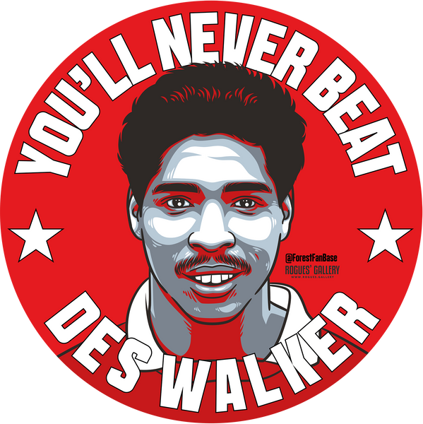 Des Walker Never beat Nottingham Forest centre half Dessie beer mats
