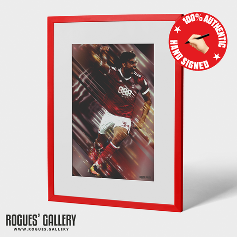 Tyler Walker Signed Nottingham Forest Goal A3 Print Rogues Gallery