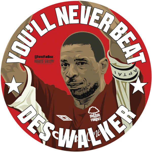 Nottingham Forest Retro You'll never beat Des Walker beer mats