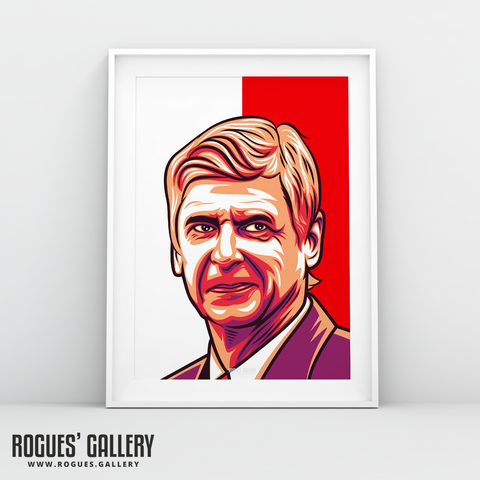 Arsene Wenger Arsenal Manager A3 Icon art print