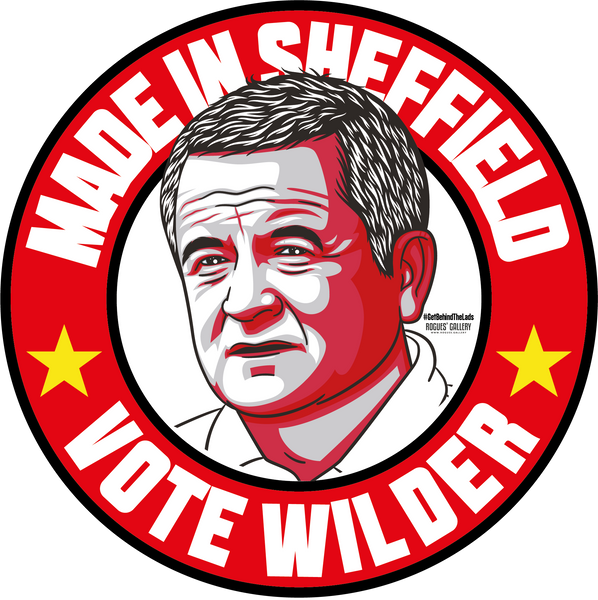Chris Wilder Sheffield United Boss Manager Blades campaign stickers #GetBehindTheLads Made In Sheffield SUFC