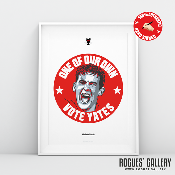 Ryan Yates NFFC Nottingham Forest midfielder signed red print A3 #GetBehindTheLads Edit City Ground