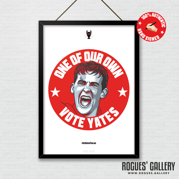 Ryan Yates Nottingham Forest midfielder signed red print A3 #GetBehindTheLads