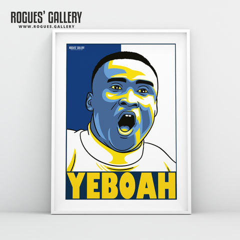 Tony Yeboah Leeds United Elland Road LUFC striker A3 art print