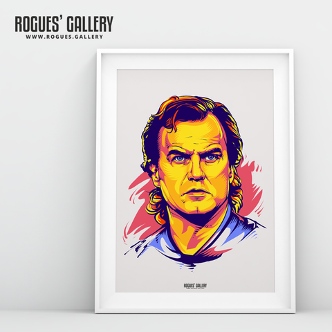 Marcelo Bielsa manager Leeds United Elland Road A3 art print boss young