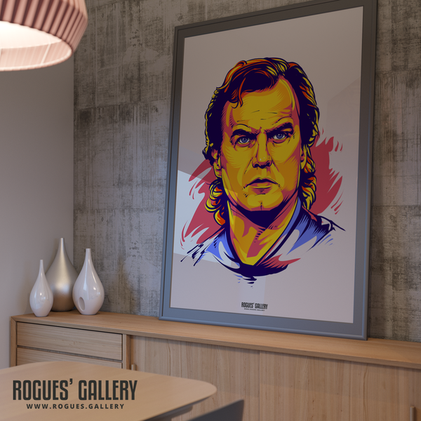 Marcelo Bielsa manager Leeds United Elland Road A0 poster art print boss young 2020 promotion