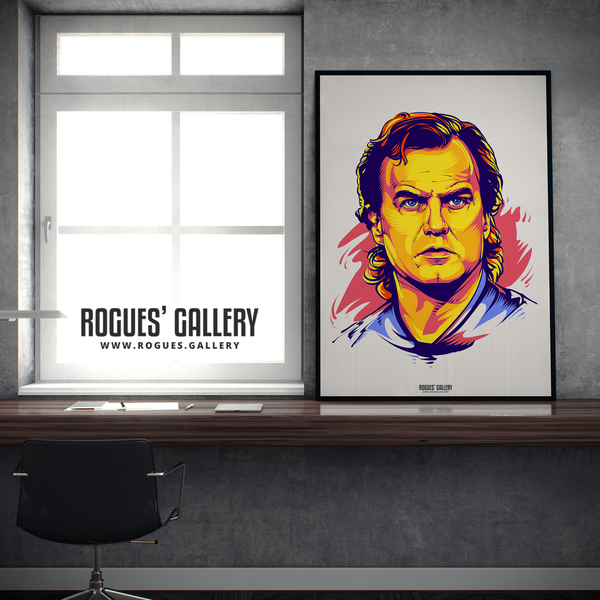 Marcelo Bielsa manager Leeds United Elland Road A1 art print boss young promotion 2020