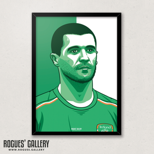 Roy Keane Republic of Ireland midfielder captain A3 print edit