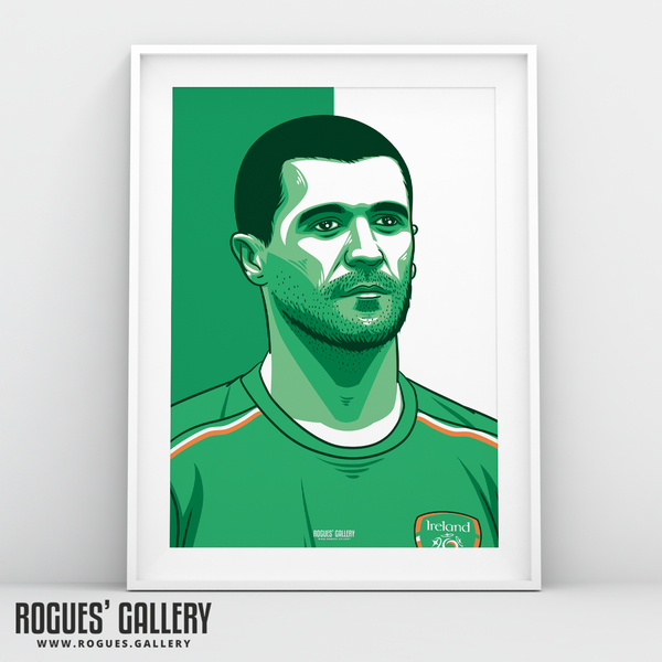 Roy Keane Republic of Ireland Eire captain A3 print edits art