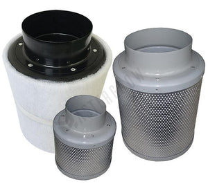 Activated Carbon Air Filter Set For Indoor Hydroponics Grow Tents, Various Sizes/Diameters