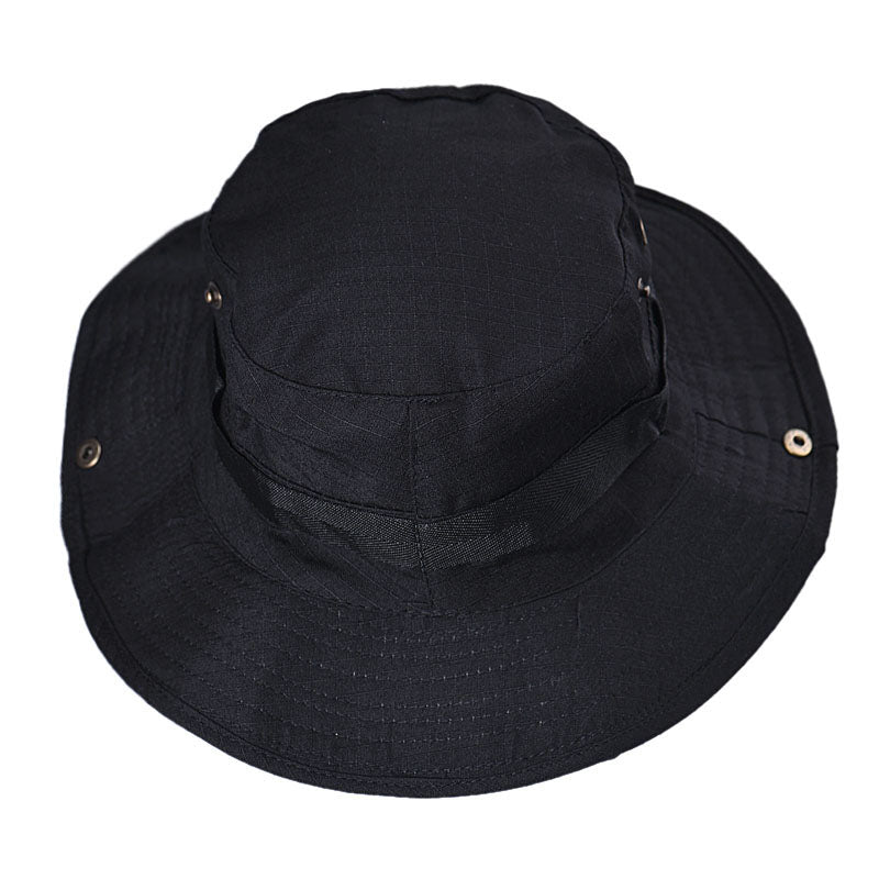 365a7d7f Men's Canvas Boonie Hat with Wide Brim and Chin Strap – Bloom in ...