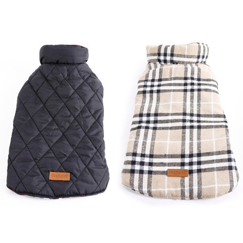 Large Dog Reversible Waterproof Jacket