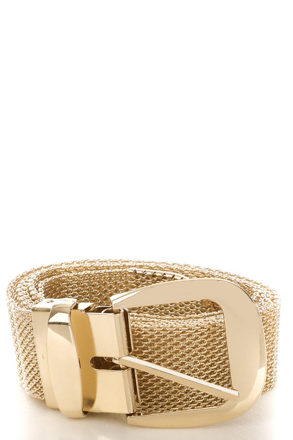 METAL MESH BELT, GOLD