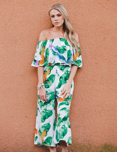 Josephine Jumpsuit, Purple Palm