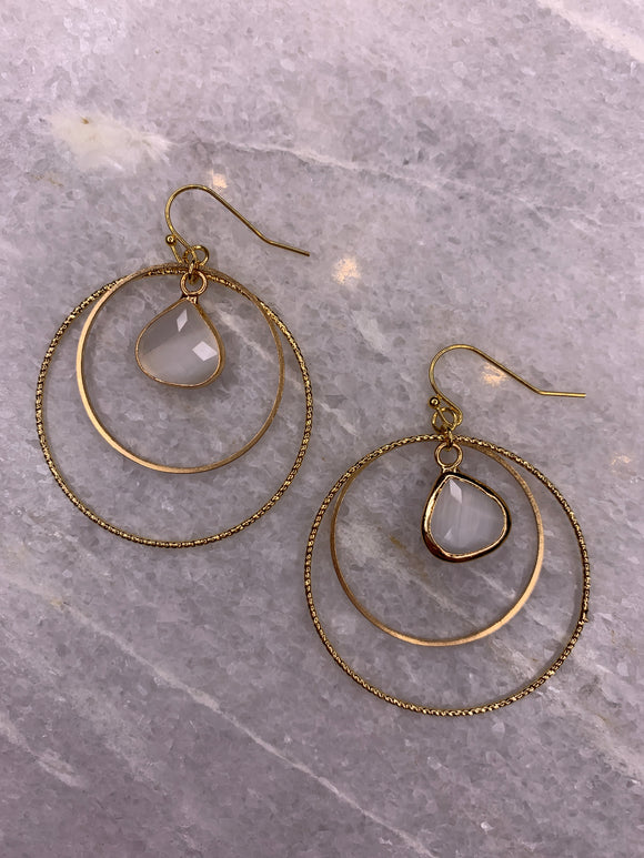 Post Earring Hoop Diamond