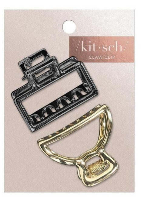 Mini Open Shape Claw Clips - Set of 2