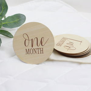 Baby Milestone Month Markers (1-12 Months)