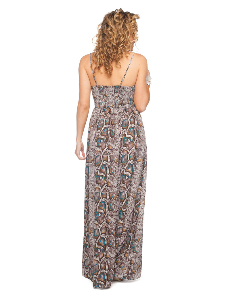 The Kendall Snakeskin Maxi Dress