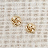 Knot Stud Earrings (Gold & Silver)