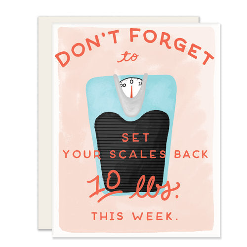 Set Scales Back Card