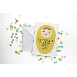 Congrats on The Baby! Card