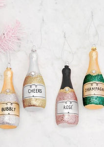 Glitter Bottle Ornament