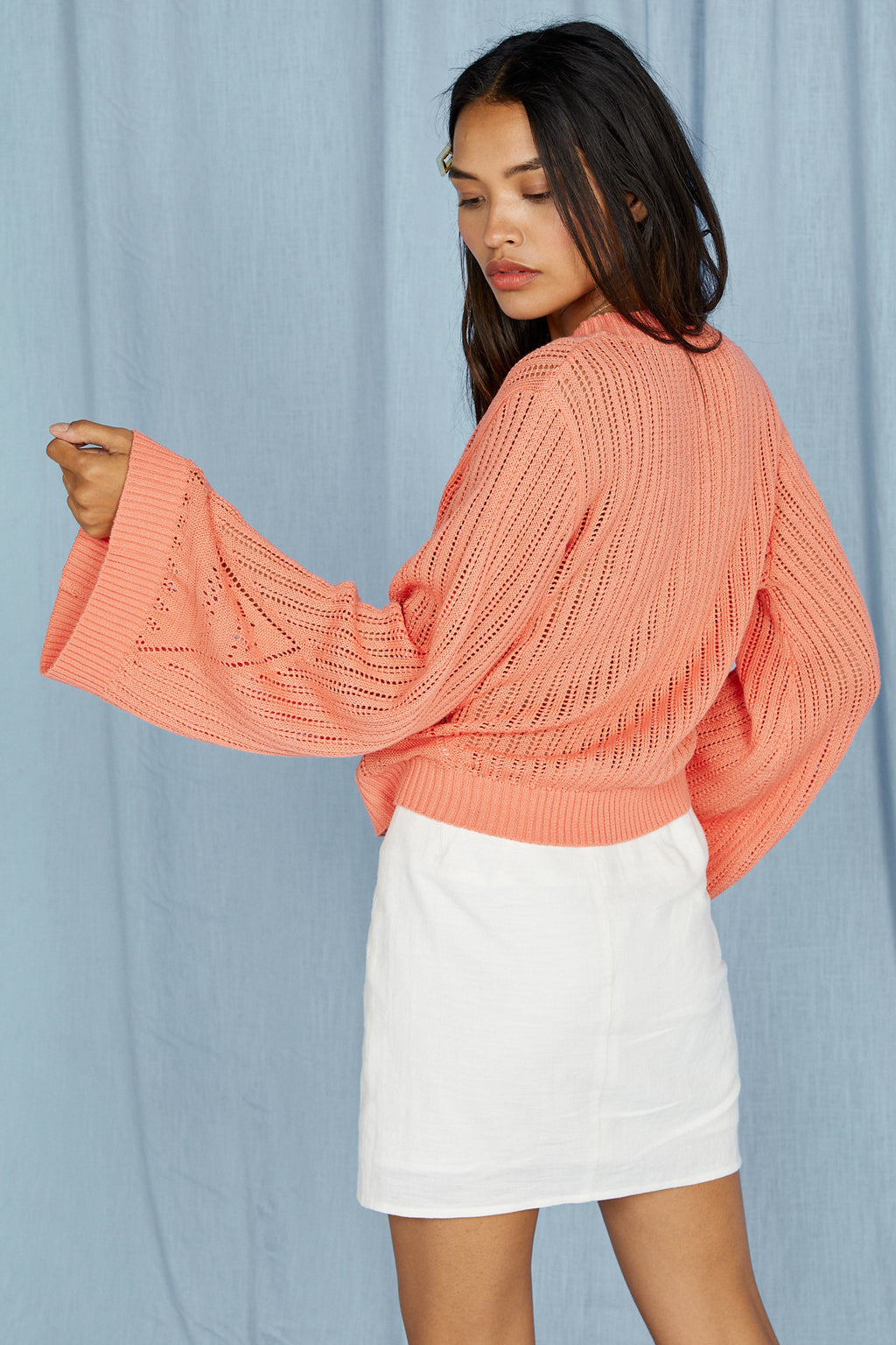 Across the Room Sweater, Coral