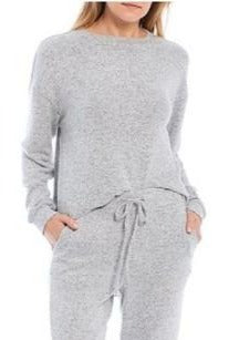Brushed Knit Lounge Jogger, Grey