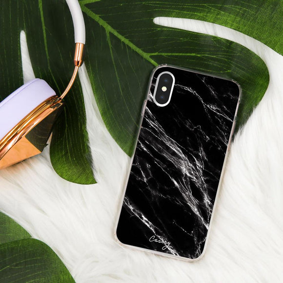 The Casery Phone Case- Black Marble