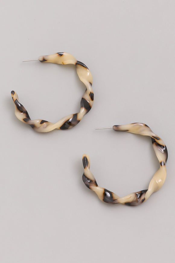 Tortoise Twist Hoops (2 Colors)