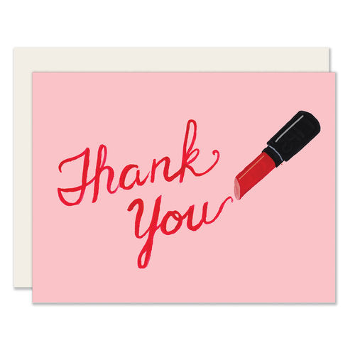 Lipstick Thank You Card