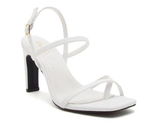 Kaylee Strappy Heel, White