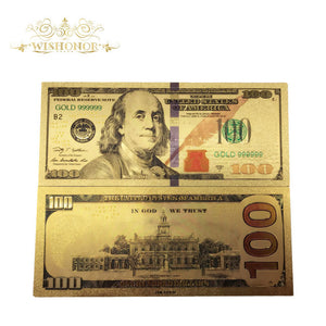 10Pcs/BIG BALLER BANKNOTES /Bank Notes in 24K Gold Plated PLAY MONEY!