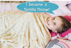"GET ""CHIPO-LAYED"", Round Tortilla Wrap Blanket"