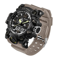 Men's Military Watch, Water Resistant LED Quartz Sport S Shock Watch
