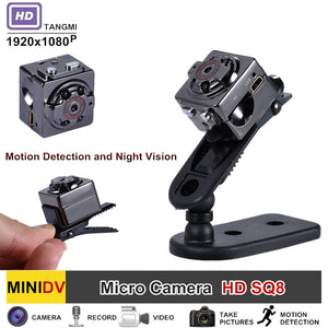 SQ8 Full HD 1080P Mini Camera With Motion Sensor Night Vision Micro Camcorder Sport Outdoor DV Voice Video Recorder Action Cam