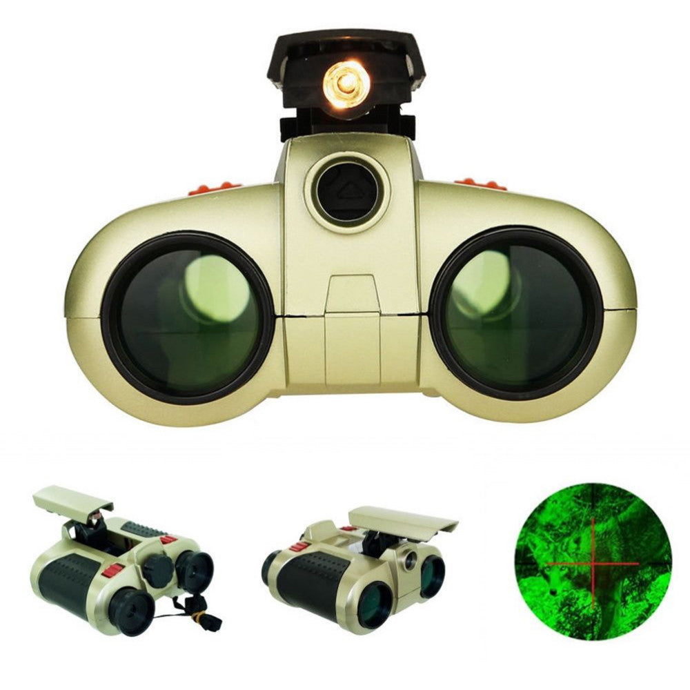 WTF YOU LOOKIN AT?!?! 4x30mm Night Vision Viewer Surveillance Spy Scope Binoculars with Pop-up Light