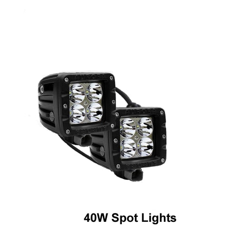 "Thunder and Lighting - Pair Aurora 2"" 40W Spot Work Light"