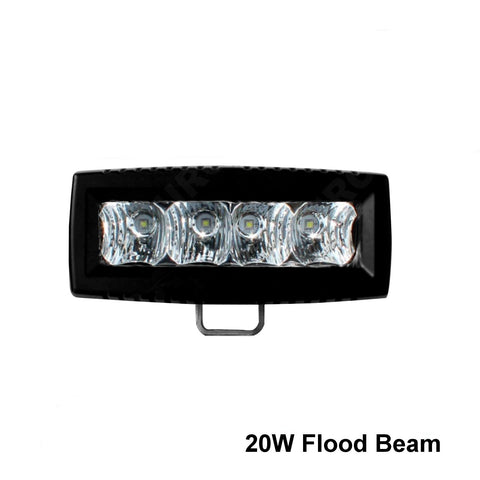 "Thunder and Lighting - Aurora 4"" Single Row Flood Light Bar"