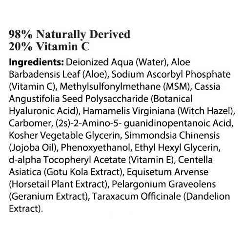 Vitamin C Serum Ingredients
