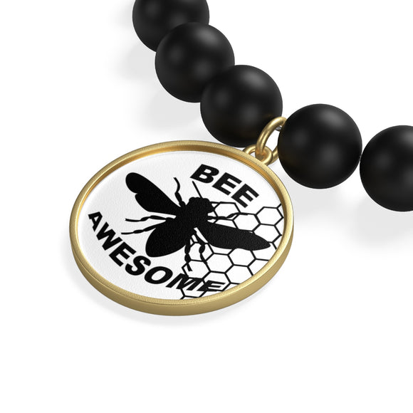 Bee Awesome Onyx Bracelet