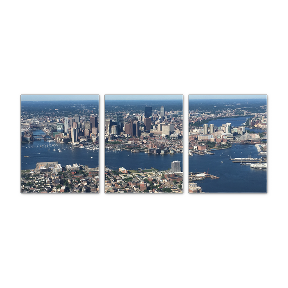Boston Aerial Panoramic Set of 3