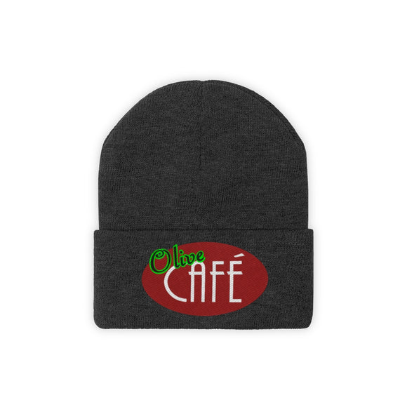 Olive Cafe Knit Beanie